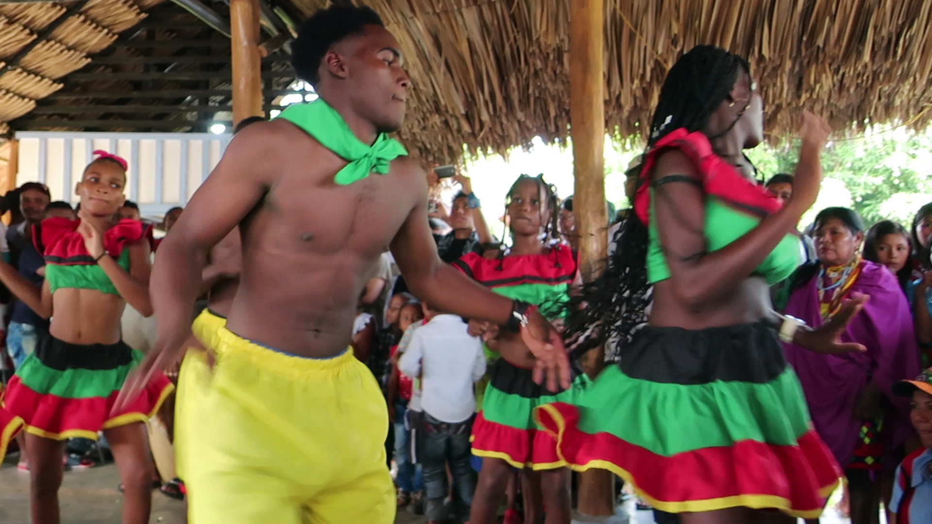 Dance group from the Cultural House in Unguía