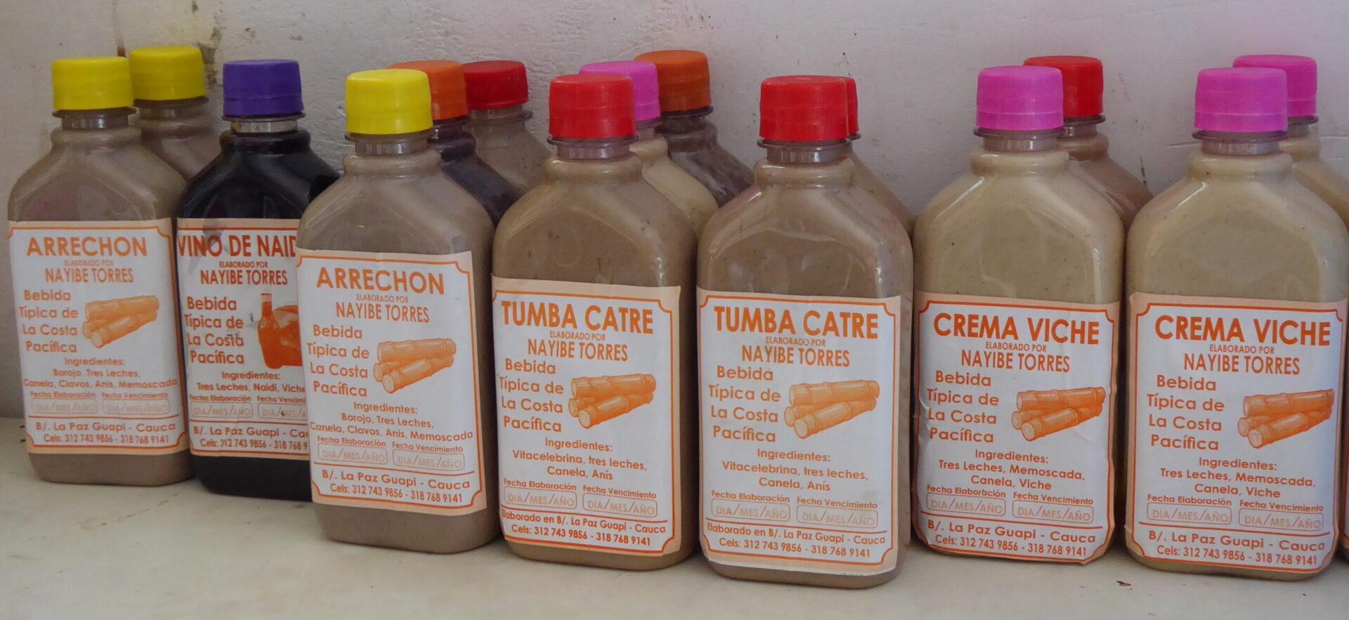 Bebidas tradicionales de Guapi preparadas por Nayibe Torres