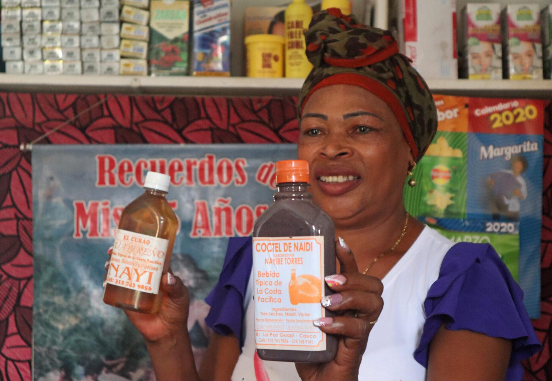 Nayibe Torres, fabricante de bebidas tradicionales de Guapi